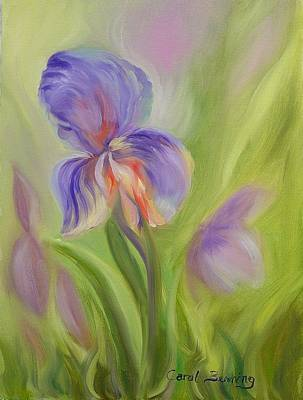 Art Print featuring the painting Tennessee Iris Two by Carol Berning