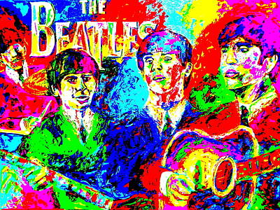 The Beatles Art Print by Mike OBrien