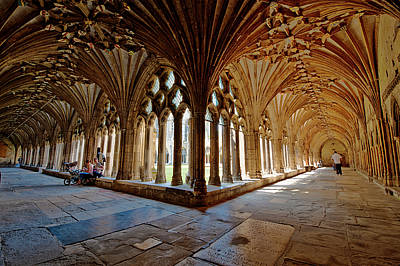 Stone Masons Photograph - The Cloisters Canterbury Cathedral by Donald Davis