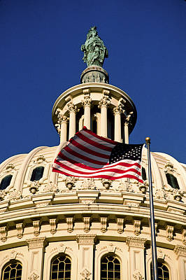 The Dome Of The United States Capitol Art Print