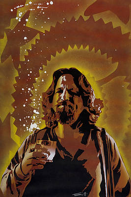 Stencil Painting - The Dude by Tai Taeoalii