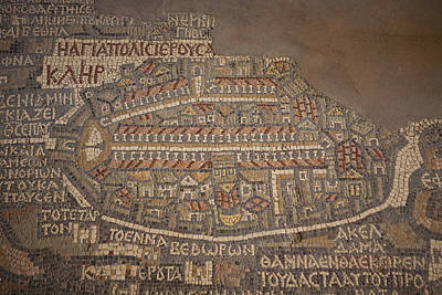 Jordan Photograph - The Earliest Known Map Of The City by Taylor S. Kennedy