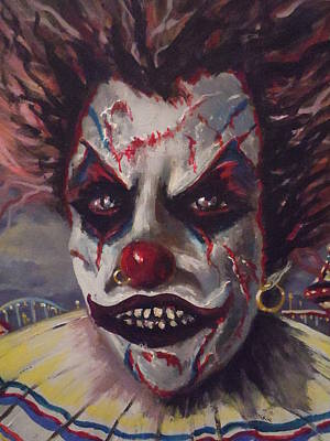Evil Clown Painting - The Enforcer by James Guentner
