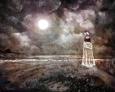 Pacifica Digital Art - The Fading Memory Of Annabel Lee by Laura Iverson