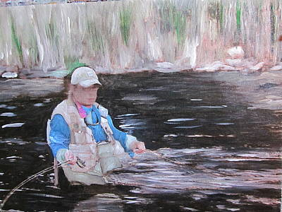 Painting - The Fisherman by David Poyant