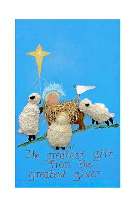 The Greatest Gift Art Print by Sally Weigand