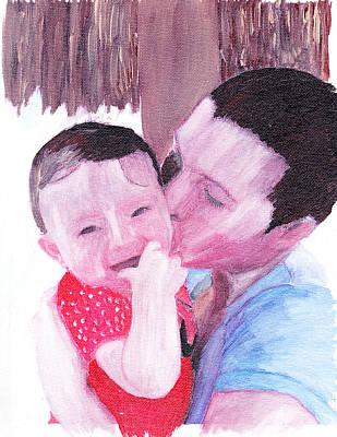 The Kiss Art Print by David Poyant