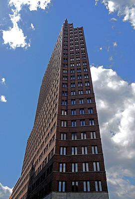 Fenster Photograph - The Kollhoff-tower ...  by Juergen Weiss