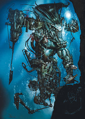 The Kraken Print by Paul Davidson