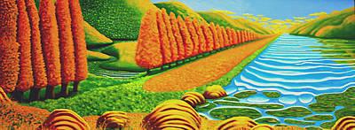 The Path Art Print by Barbara Stirrup