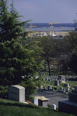 Etc. Photograph - The Pentagon Looms Behind  Arlington by Raymond Gehman