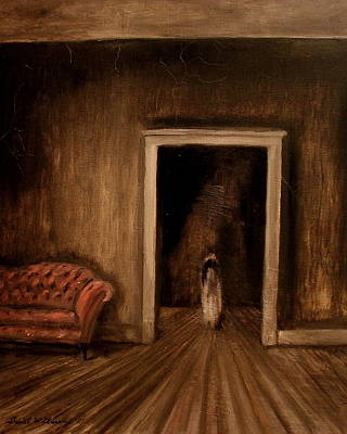 The Haunted House Painting - The Sisters by Daniel W Green