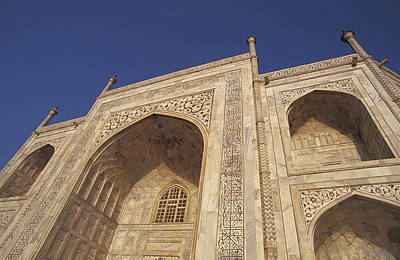 The Taj Mahals Pristine White Marble Art Print by Jason Edwards