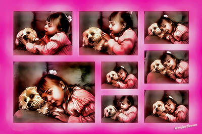Digital Art - They Call It Puppy Love by Kathy Tarochione