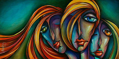 Three Art Print by Michael Lang