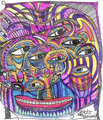 Tribal Art Painting - Three by Robert Wolverton Jr