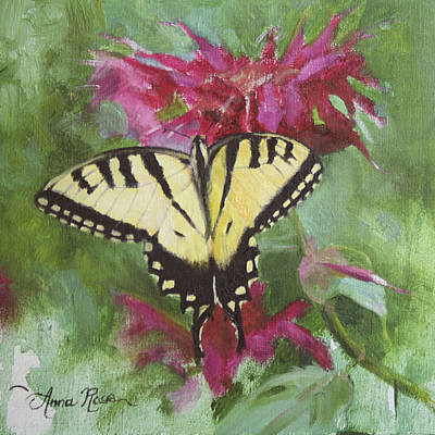 Tigers Painting - Tiger Swallowtail by Anna Rose Bain
