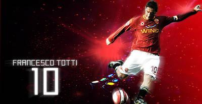 Francesco Totti Digital Art - Totti Wallpaper by Emiliano Giardini