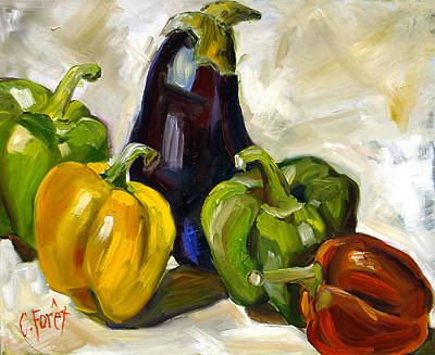 Pepper Painting - Veggie Delight by Carole Foret