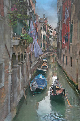 Romantic Photograph - Venice Canal by Ron Morecraft
