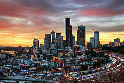Seattle Photograph - View Of Columbia Tower by Stephen Kacirek