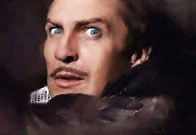 Vincent Price Painting - Vincent Price by April Wolfe