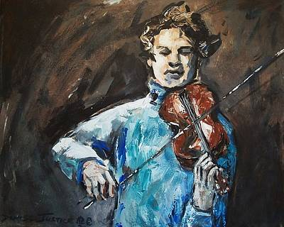 Justice Painting - Violinist1 by Denise Justice