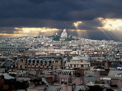 Montmartre Photograph - Vue De La Butte Montmartre.roofs Of Paris by Bernard Jaubert