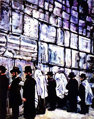 Wailing Wall Original by Irene Nowicki