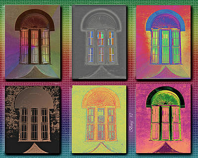 Art Print featuring the photograph Wall Of Windows by Larry Bishop