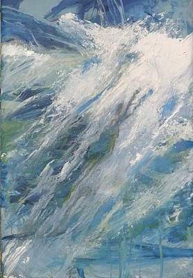 Art Print featuring the painting Wave by John Fish