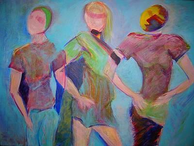 We Three Art Print by Mary Schiros