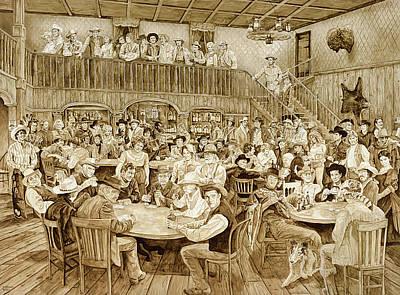Cash Painting - Western Saloon by Tim Joyner