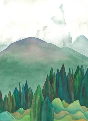 Wet Waterton Art Print by Anne Havard