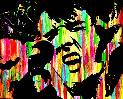 Obriens Painting - Where Is Elvis by Mike OBrien