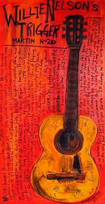 Willie Nelson's Trigger Print by Karl Haglund
