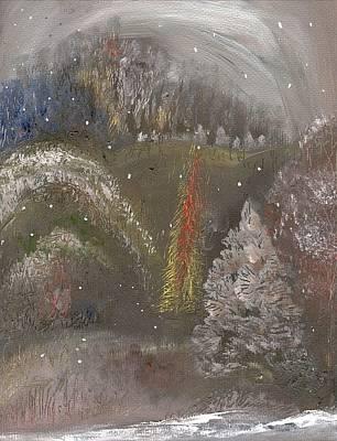 Painting - Winter Landscape 2 by Michaela Kraemer