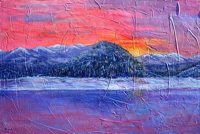Winter Sunset Art Print by Sandy Hemmer