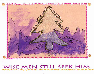 Mixed Media - Wise Men Still Seek Him by Angela L Walker