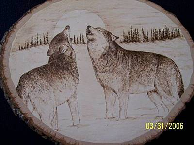 Pyrography - Wolf Song by Adam Owen
