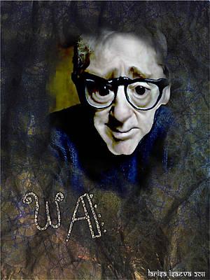 Digital Art - Woody Allen by Larisa Isaeva