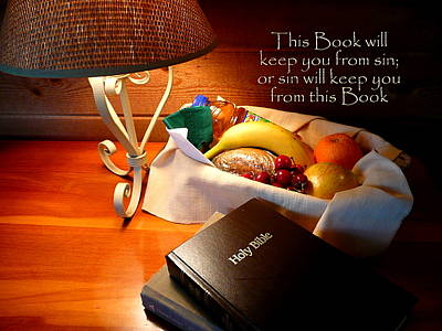Holy Napkin Photograph - Word Of God by Cindy Wright