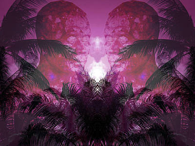 Thai Mixed Media - Worship At The Pink Sunset by Manik Designs