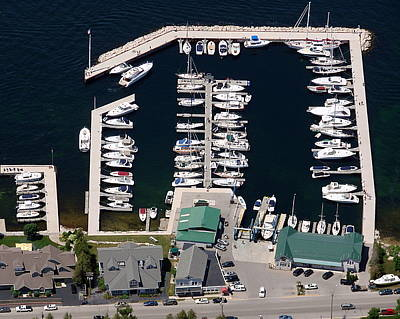 Photograph - Y-002 Yacht Works Marina Sister Bay Wisconsin 2 by Bill Lang