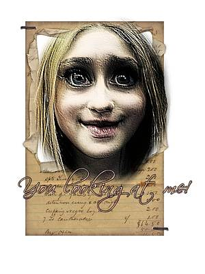 Digital Art - You Looking At Me by Larisa Isaeva