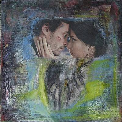 Mixed Media - Young Lovers by Anni Koch-Knudsen