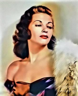 Singer Digital Art - Yvonne De Carlo, Vintage Actress. Digital Art By Mb by Mary Bassett