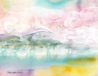 Glacier Alaska Painting - Zephyr by Casey Rasmussen White