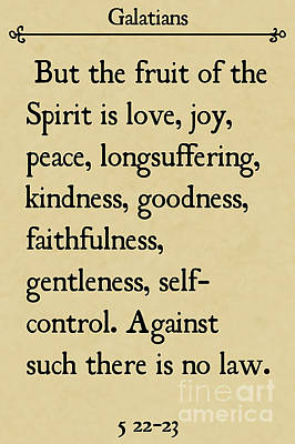 Painting - Galatians 5 22-23- Inspirational Quotes Wall Art Collection by Mark Lawrence