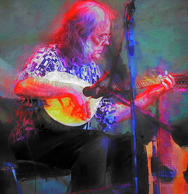 Musicians Royalty Free Images - David Lindley Musician Royalty-Free Image by Mal Bray